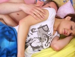 Cute teen get sweet massage before raw fuck
