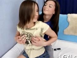 Teen bawdy cleft fisting scene
