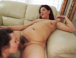 Old and young lesbian rimjob - Carry Cherry and Red Mary