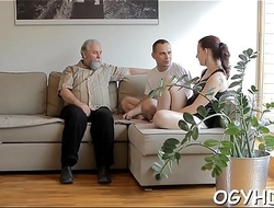 Glamorous young girl fucked by old guy