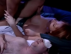Bigbreasted wife cheats in bed with drunk friend of her hubby, hubby sleeps nearby (moans, ecstasy,