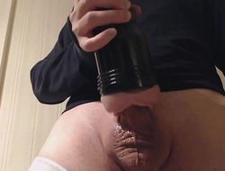 My solo 71 (Quick standing lubed nearly pink lady fuck and cum)