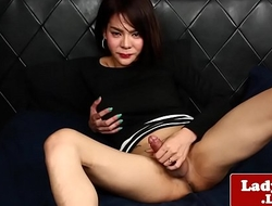 Thai ladyboy showing off her tight asshole