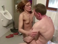 German Skinny MILF Seduce to Fuck by Stranger