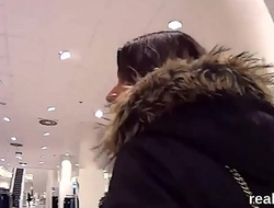 Luscious czech kitten is tempted in the supermarket and screwed in pov