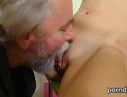 Ideal schoolgirl gets seduced and pounded by her older schoolteacher