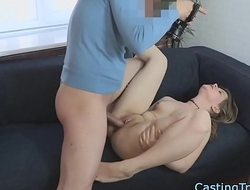 Bigbooty casting babe gets banged after bj