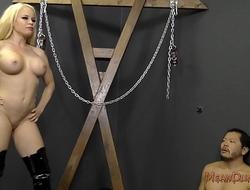 Mistress NIkki Delano Destroys Her Slave - Ass Worship