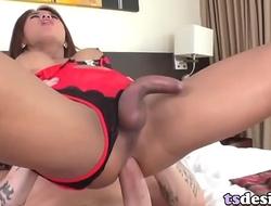 Pretty Asian Tranny Ailly Enjoys Anal Sex