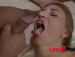 Shy slut Sabrina Blanc fucked and Throated in casting