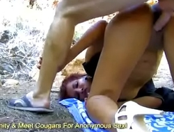 Ugly Old Bitty Jana Montada Fisted In The Woods