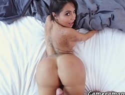 Bigass babe POV fucked after oral