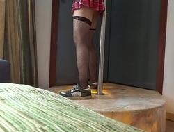 Foxxxymx Hotel CDMX Bailando Tubo Pole Dance Crossdresser 2